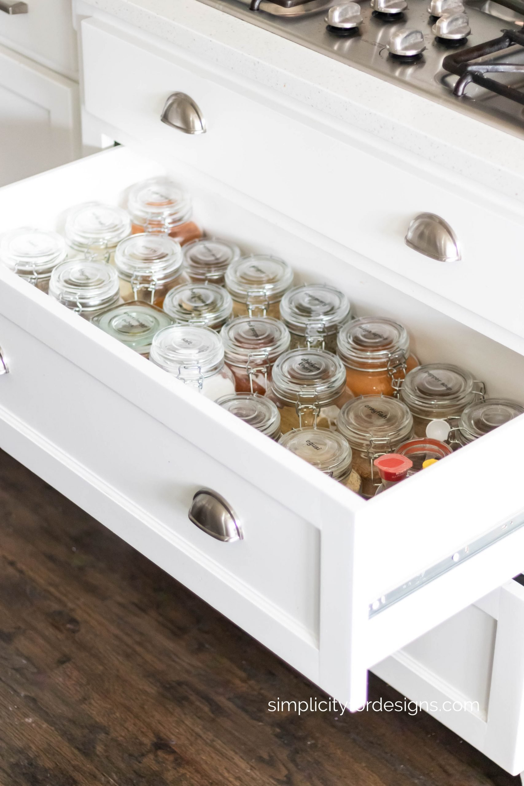 kitchen cabinets for spice drawer organization