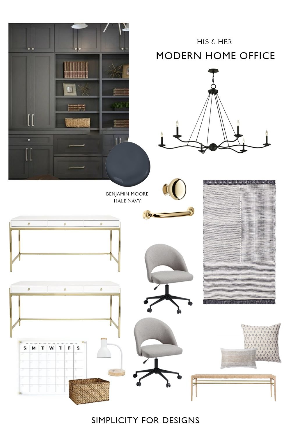 his and her home office design ideas