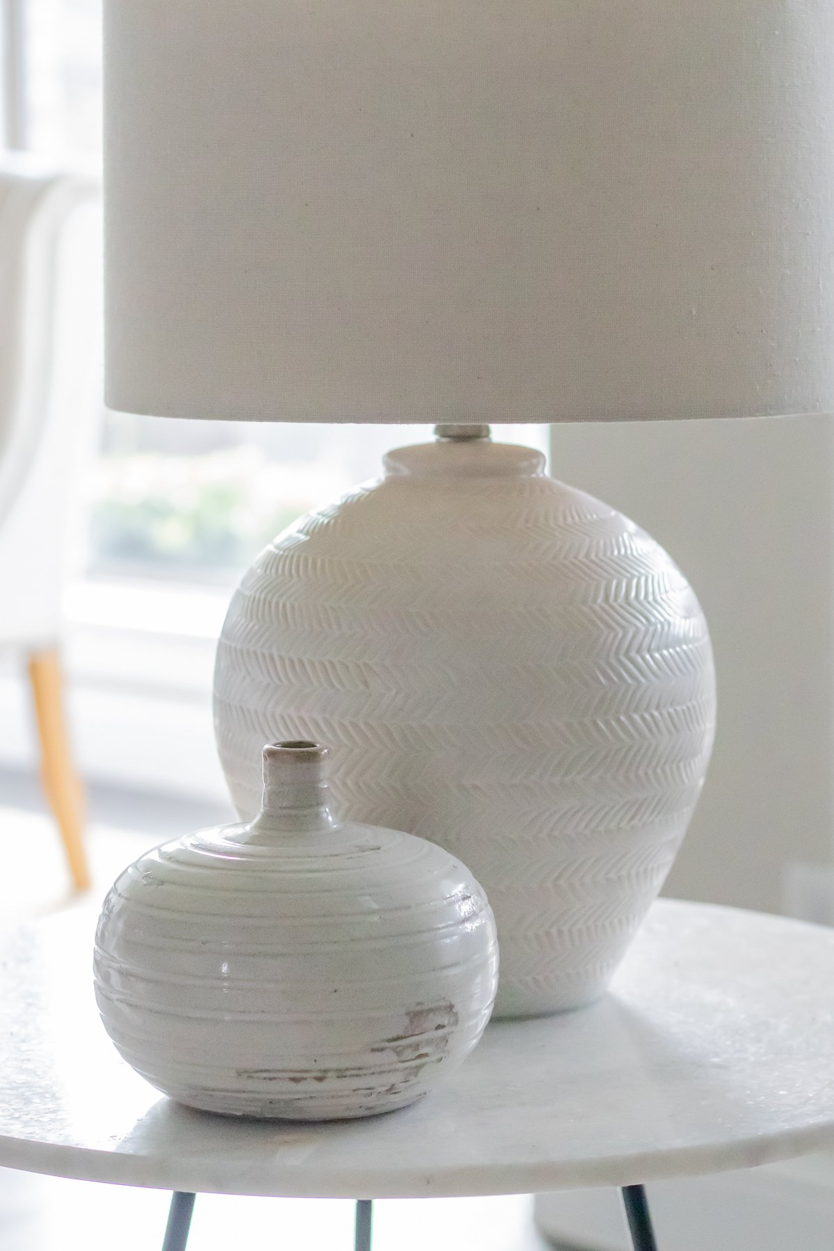 Fall decorating ideas - texture home decors - lamps and vases