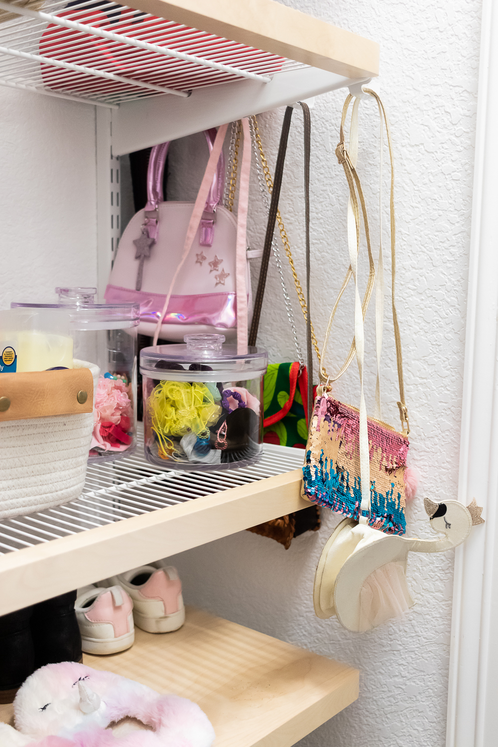 bracket rods for hanging girls bags