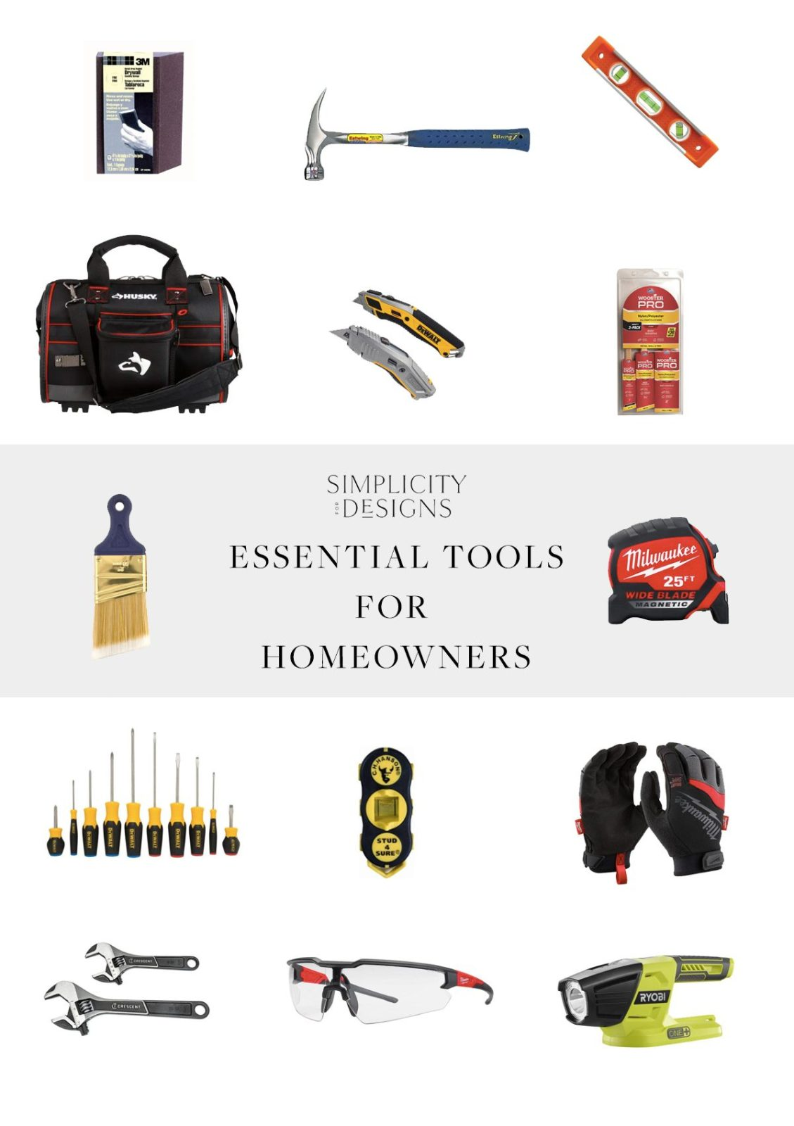 essential tools for home projects