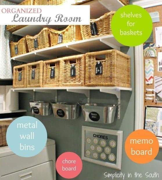 Ideas to organize a small laundry room by Simplicity in the South