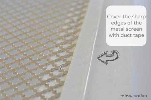 How to make a decorative air return cover