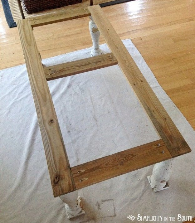 Frame for coffee baluster table legs