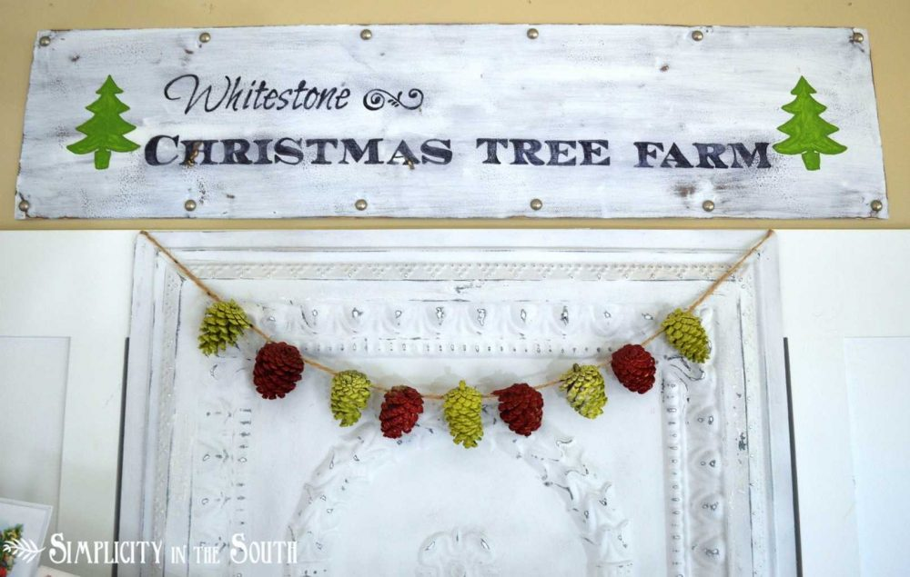 Christmas Vignette With Tree Farm