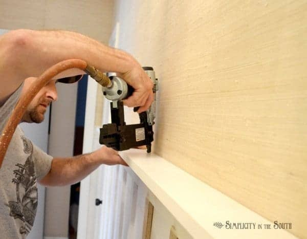 how to make gallery wall shelves by Simplicity in the South