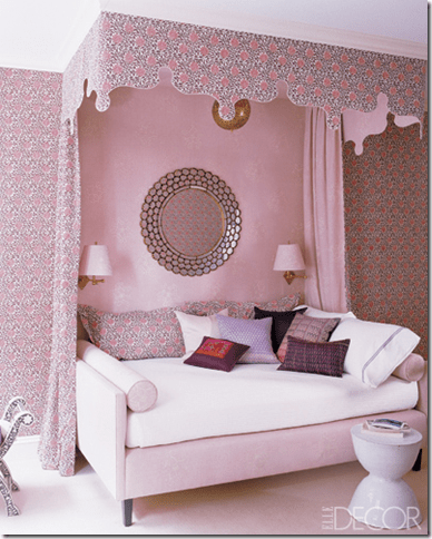 little girls pink bedroom with canopy bed Designer Rooms: Little Girls' Bedroom with Canopy Beds - Simplified Bee