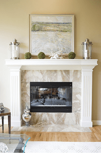 Fireplace Mantel Decor | Casual Cottage