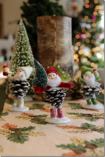 Woodland Christmas Table Setting And Decor Simplified Bee