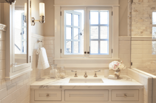 timeless master bathroomscavullodesign - simplified bee