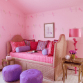Pink upholstered daybed girls bedroom simplified bee