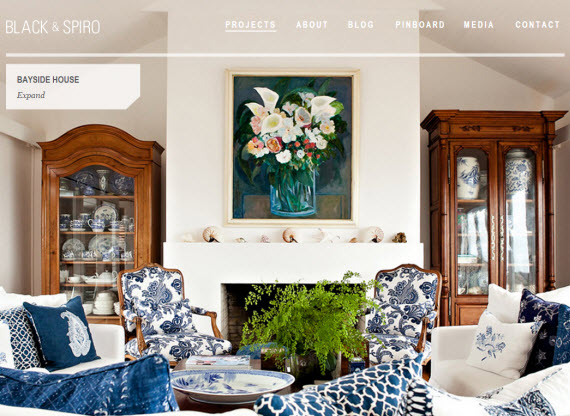 white and blue living room classic blue and white living room - Simplified Bee