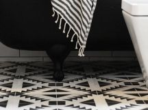 Black And White Tile Floor | Car Interior Design