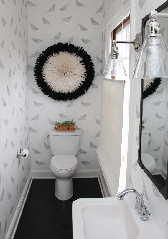 Design Reveal  Black and White Powder Room  Simplified Bee
