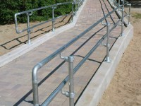 Galvanized Steel Pipe Railing Made with Kee Klamp Pipe