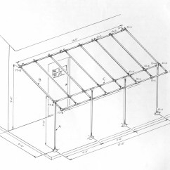 Stair Railing Parts Diagram Uml Use Case Visio 2013 Awning Frame - Project Simplified Building