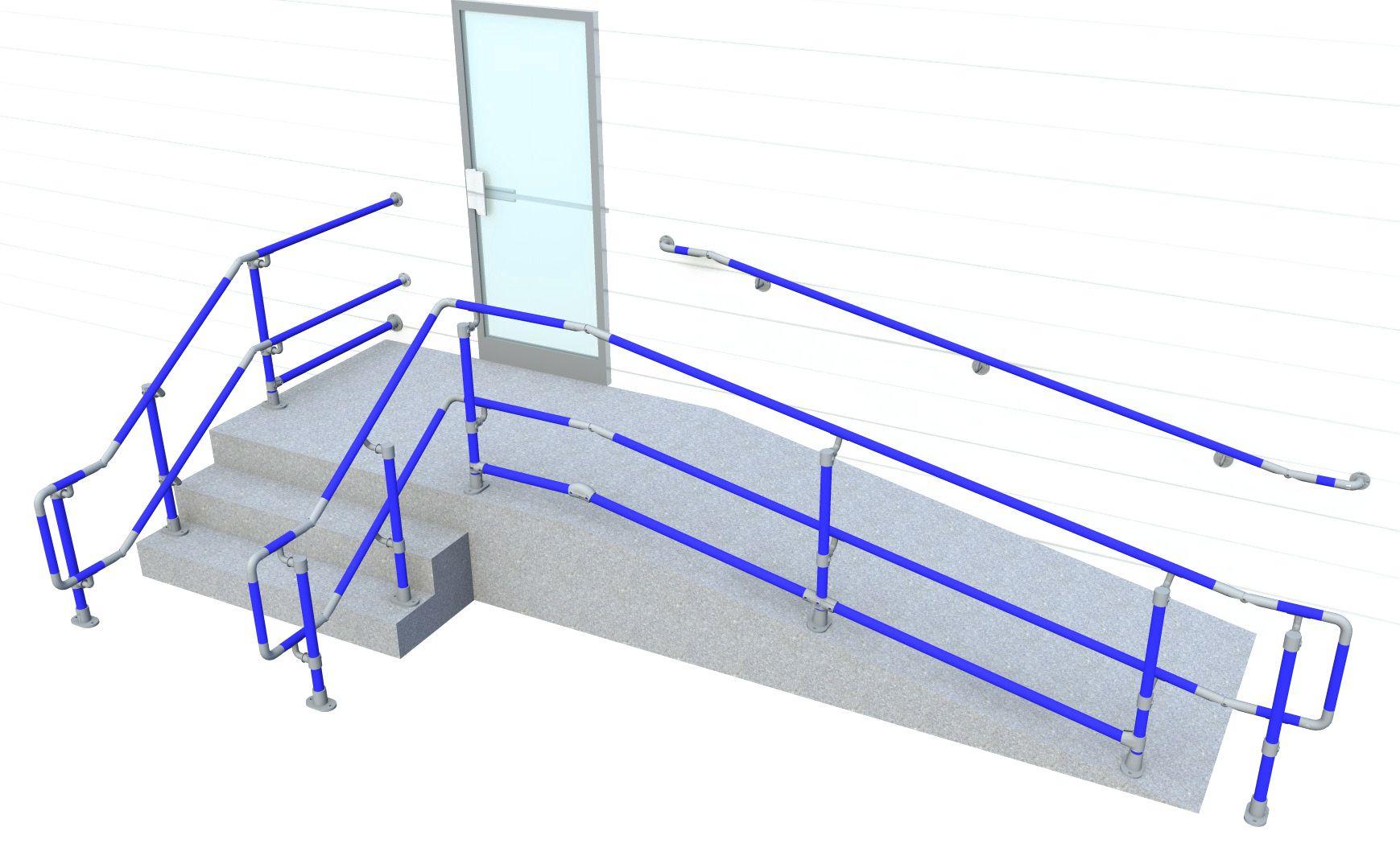 hight resolution of top middle bottom rail ada handrail diagram