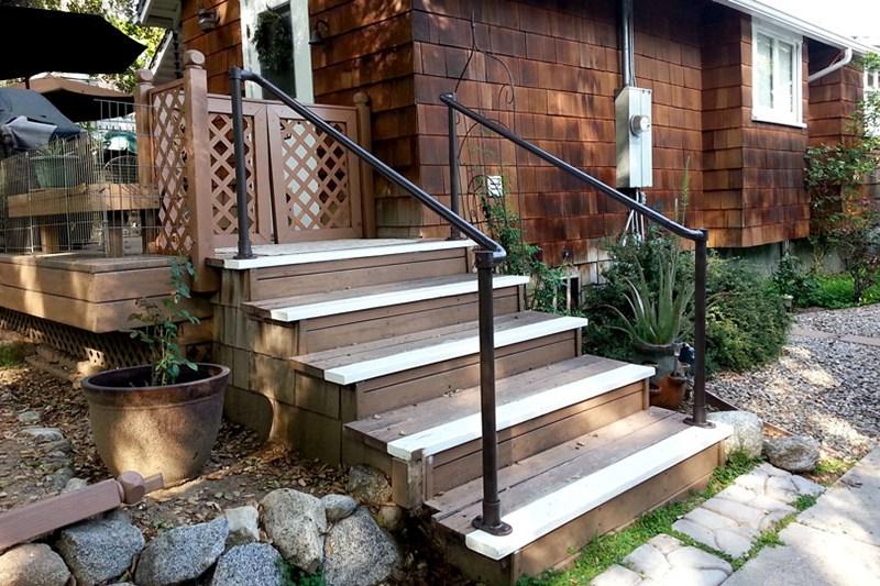 45 Porch Railing Ideas You Can Build Yourself Simplified Building   Aluminum Railings For Front Steps   Decorative   Balcony   Patio   Deck Railing   Glass Fascia Mount Metal Post
