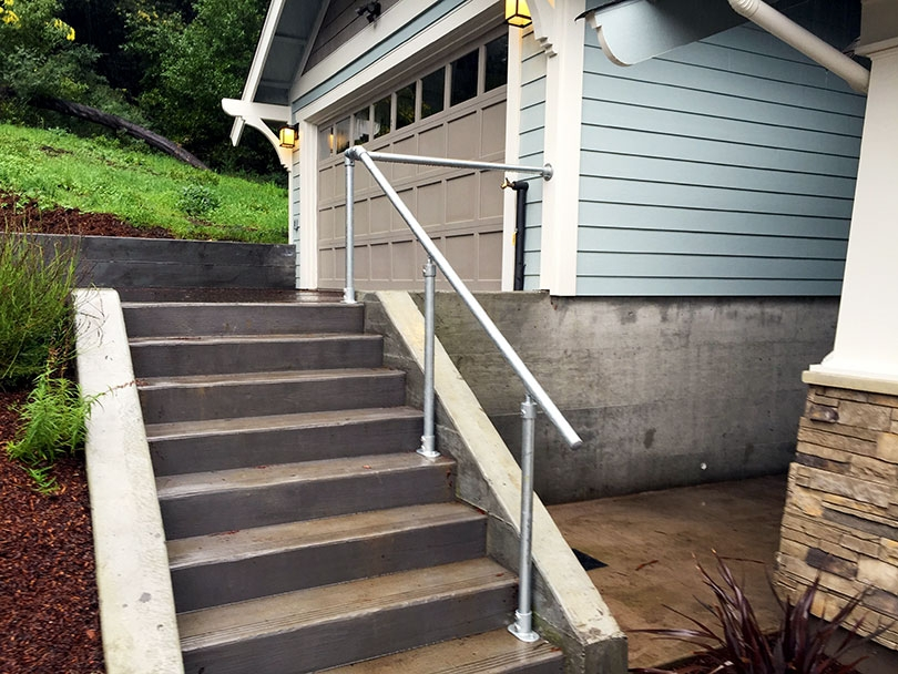 13 Outdoor Stair Railing Ideas That You Can Build Yourself | Wooden Handrails For Outdoor Steps | Wall Mounted Wooden | Prefab | Lighting Outdoor | Deck | Outdoor Garden Path