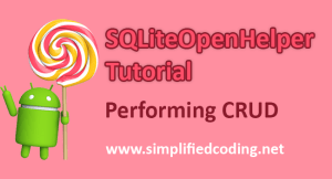 sqliteopenhelper tutorial