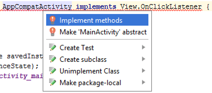 implement method