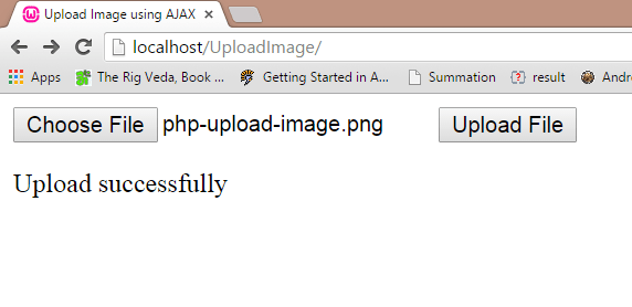 php upload image output