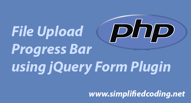 File Upload Progress Bar using PHP and jQuery Form Plugin