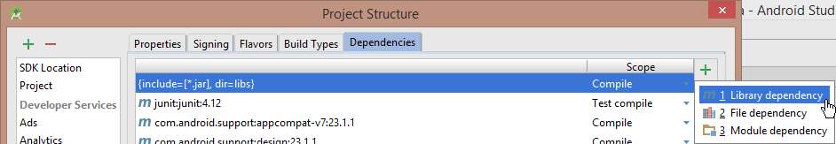 library dependency