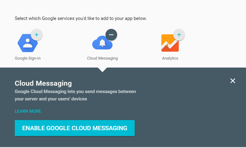 enable google cloud messaging