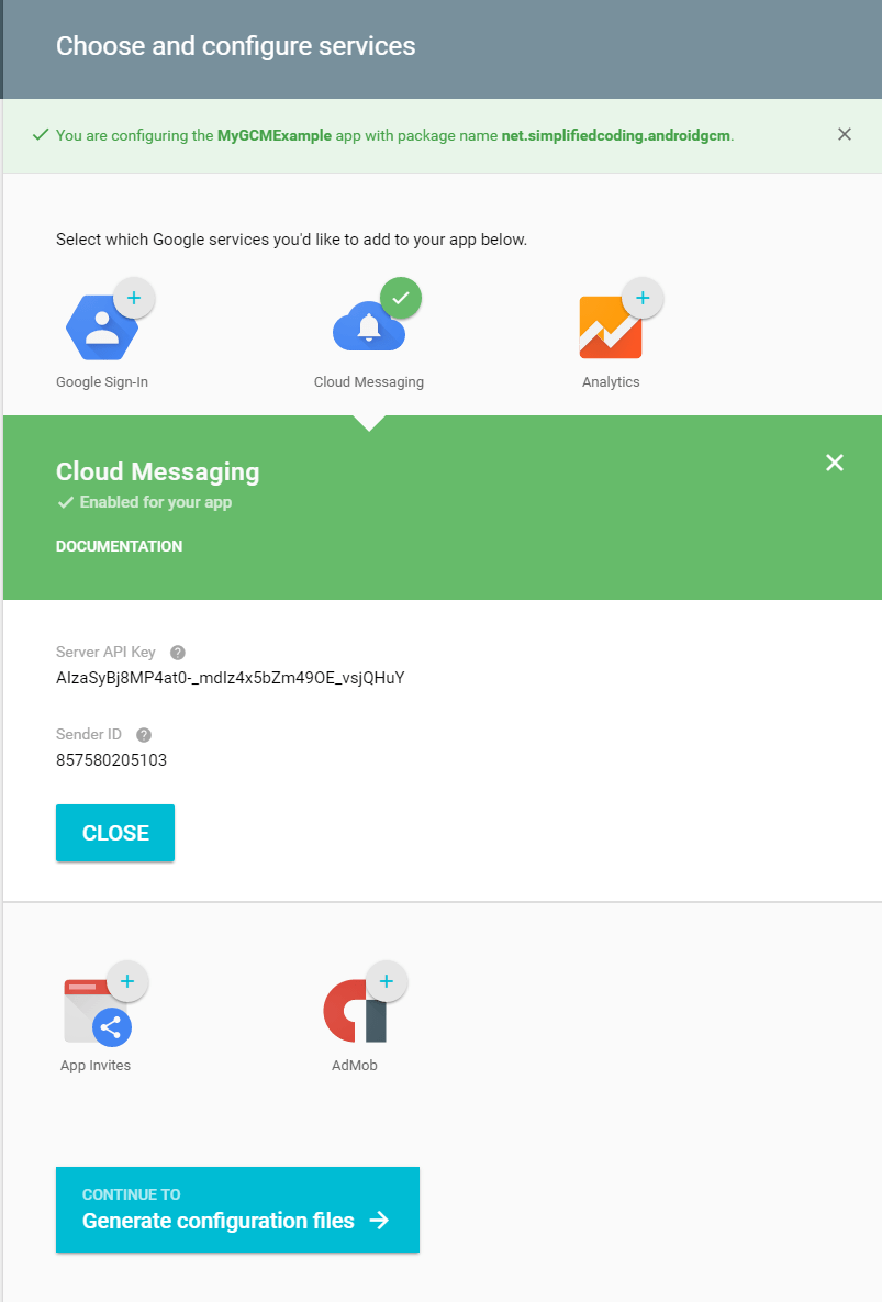 google cloud messaging