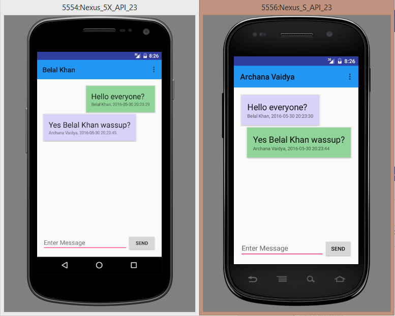 create chat application in android using gcm
