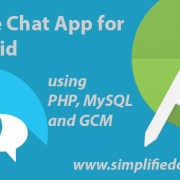 Chat application in android using mysql database