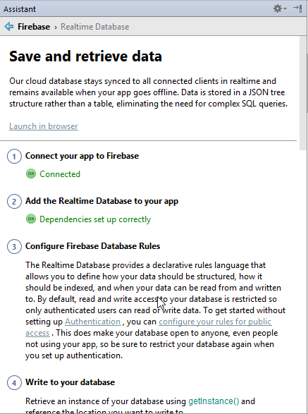 save and retrieve data