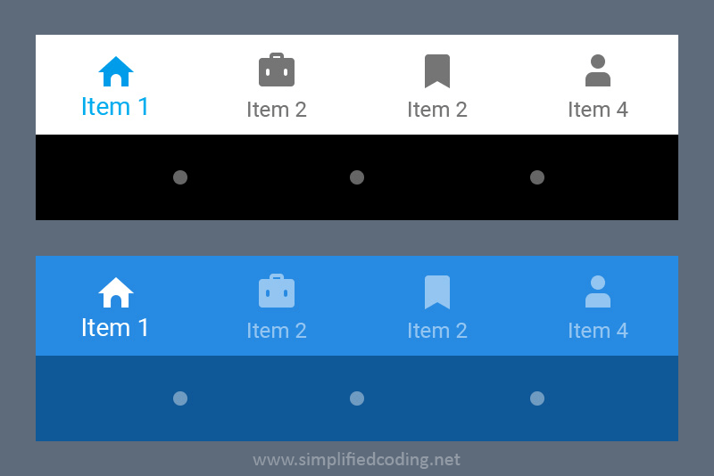 bottom navigation android