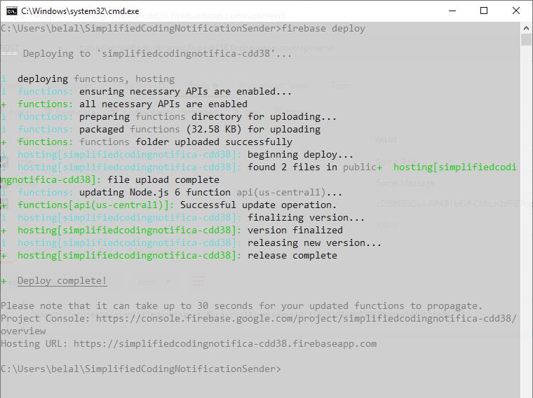 Deploying Firebase Functions