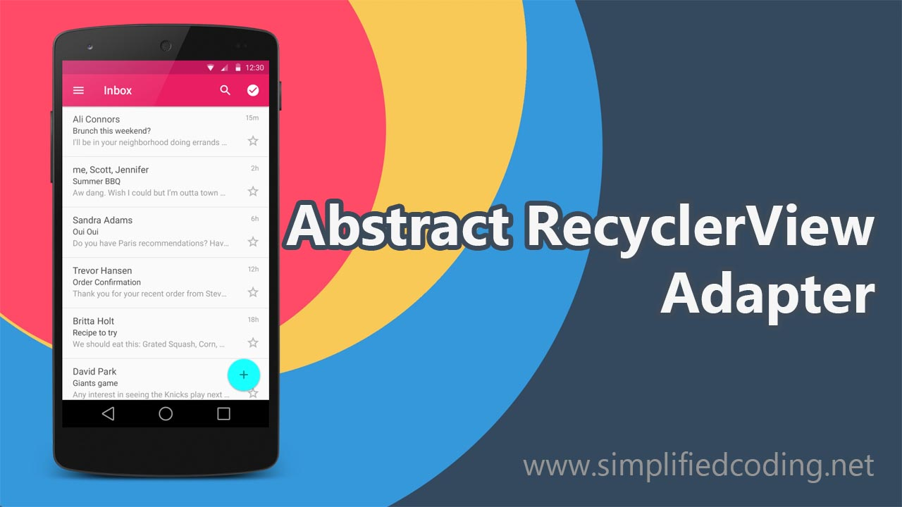 abstract recyclerview adapter
