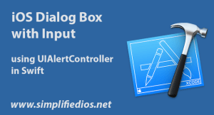 iOS Dialog Box with Input using UIAlertController in Swift