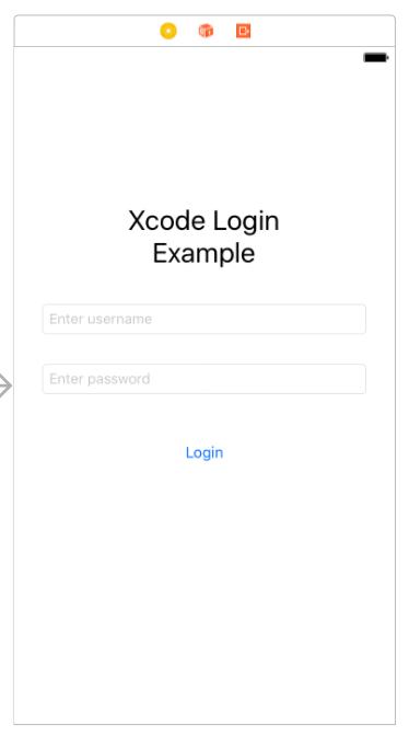 xcode login example