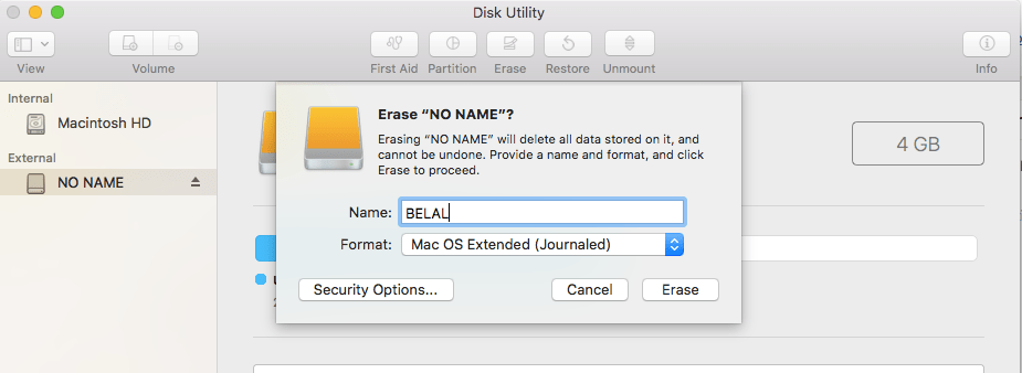 format usb on mac