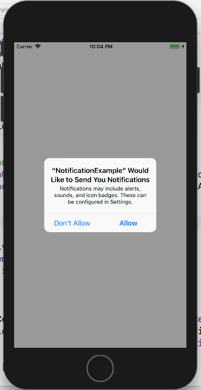 iOS Local Notification Authorization