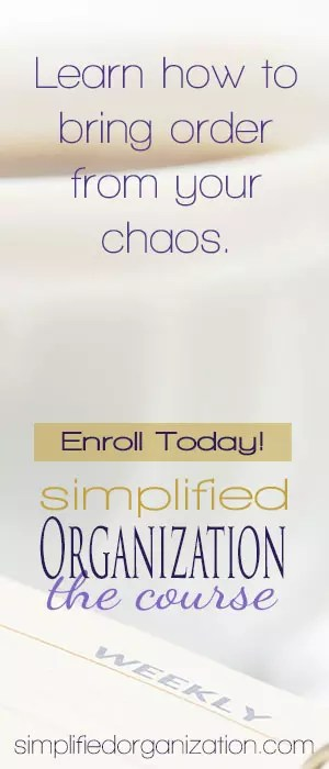Get organized and stay organized with Simplified Organization.