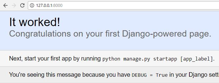 django server