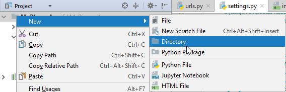 creating templates folder