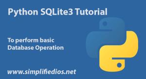 python sqlite3 tutorial