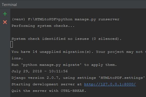 HTML to PDF Django