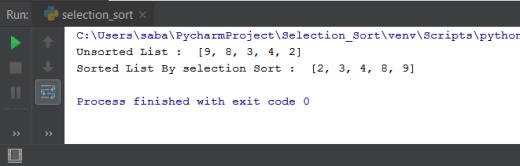 Selection Sort Python