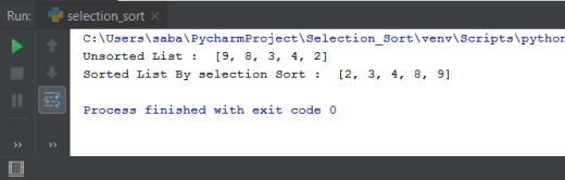 Selection Sort Python
