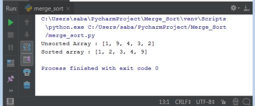 Merge Sort Python