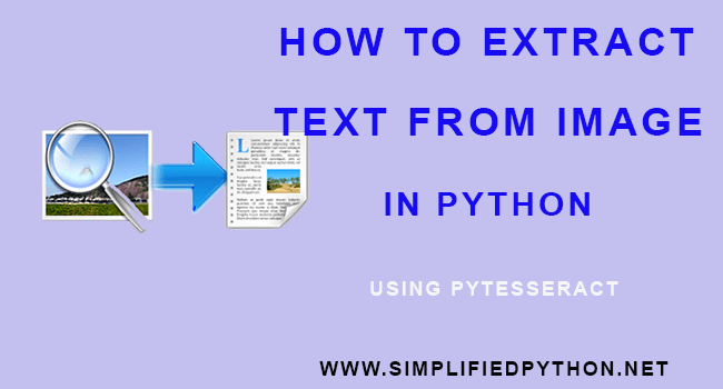 How To Extract Text From Image In Python using Pytesseract