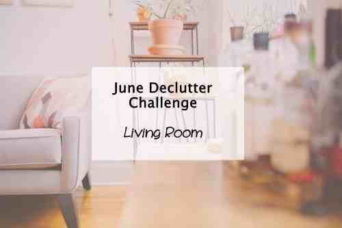 Simplify My LIfe challenge living room declutter tips